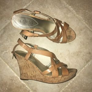 Light Brown Guess Wedges